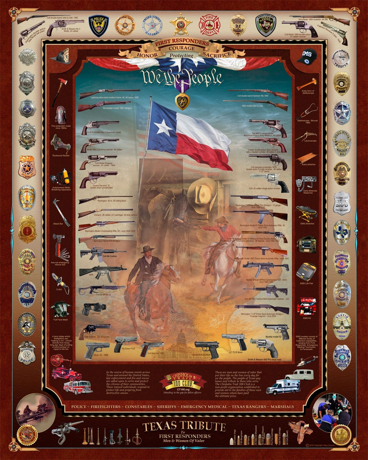 TexasTribute to First Responders 24x30