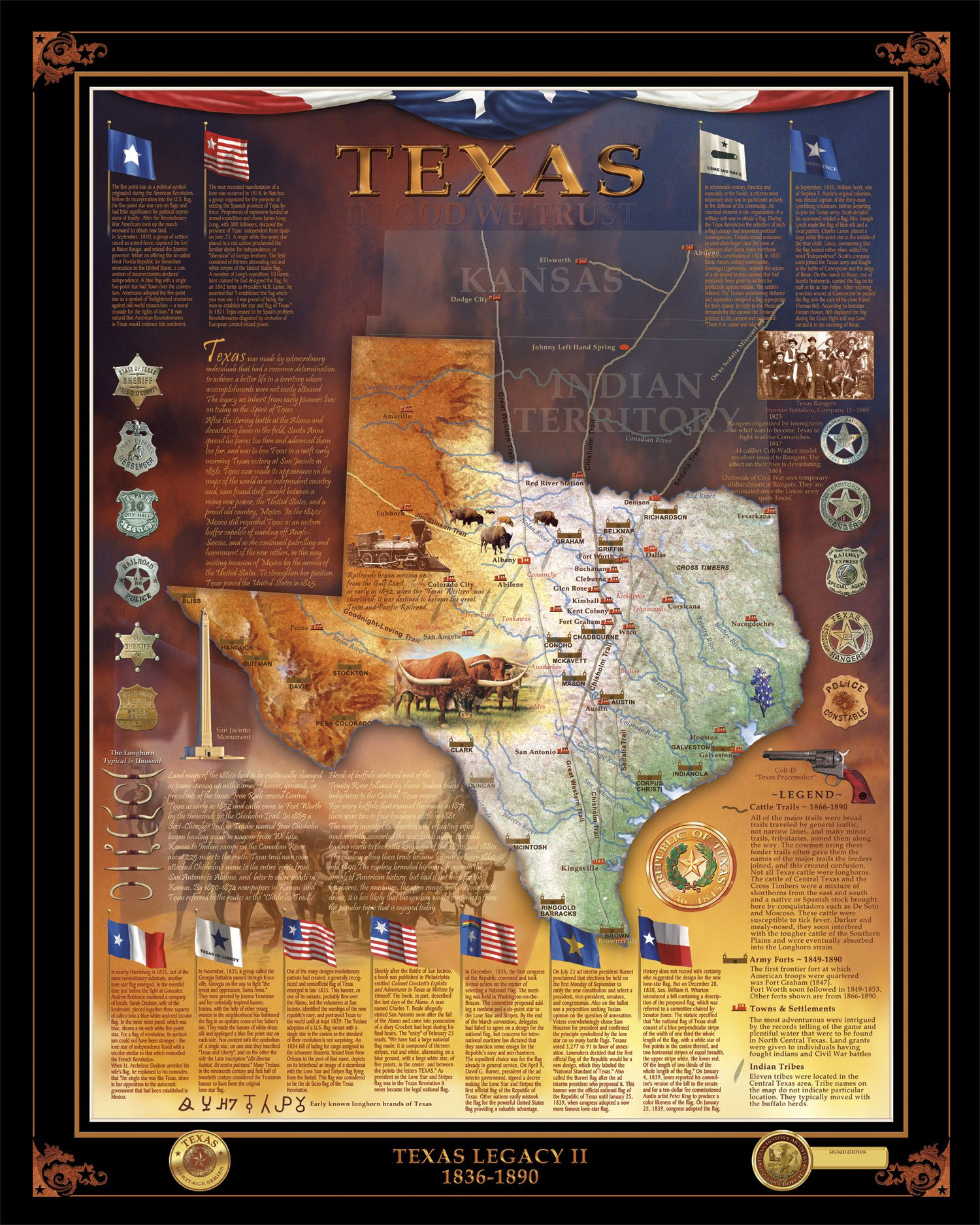Texas Legacy II by Texas History Artist Gary Crouch