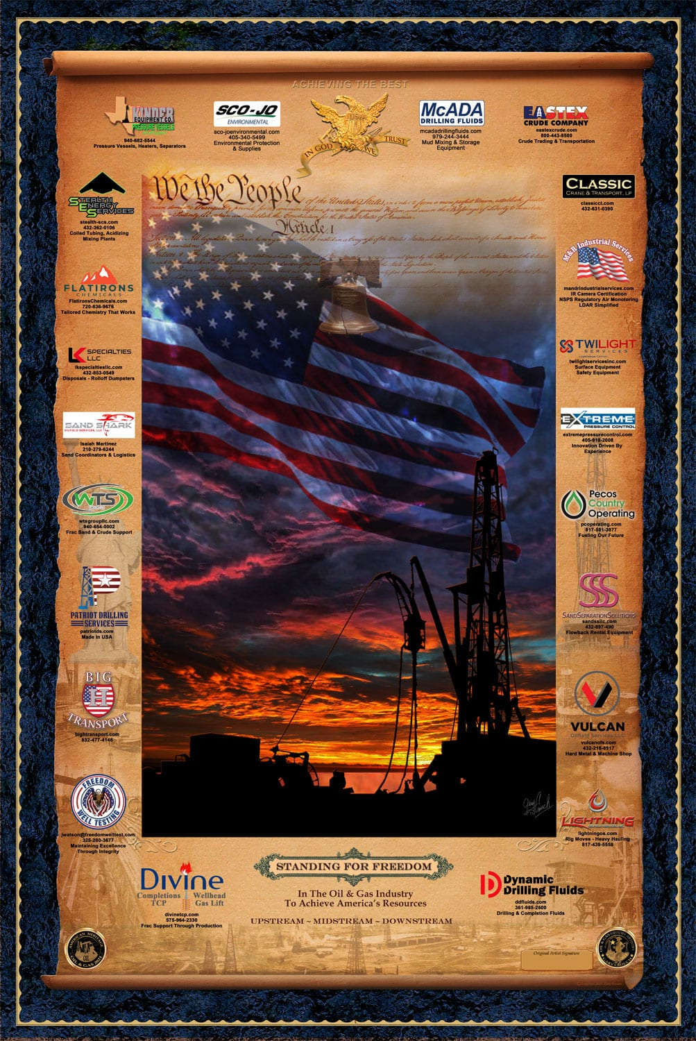Standing For Freedom art print by Gary Crouch